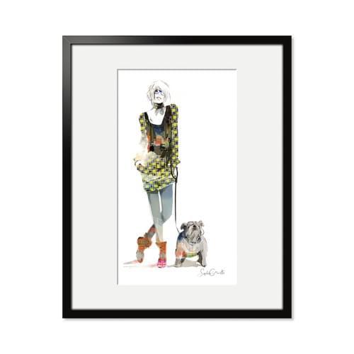 London Girl and Dog