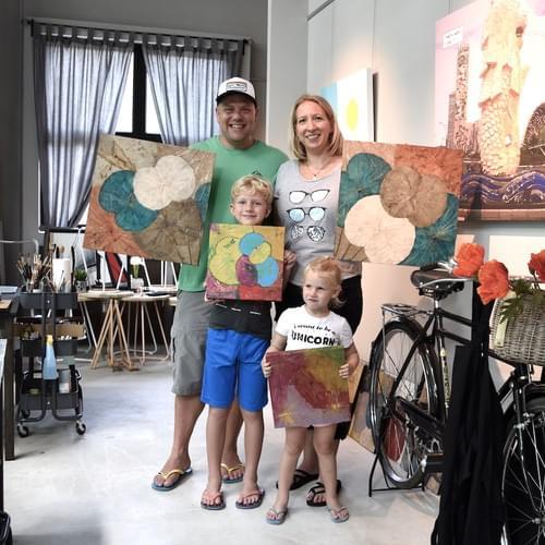 [Parent+Child] Painting on real Lotus leaf Workshop