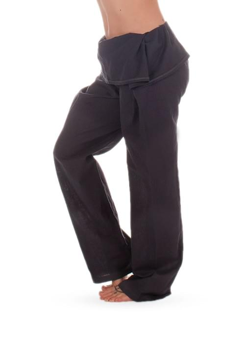 Hemp foldable navy pants