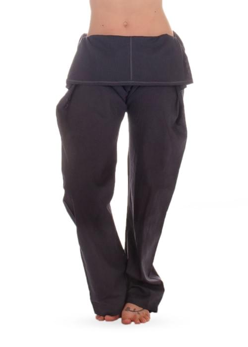 Hemp foldable navy pants