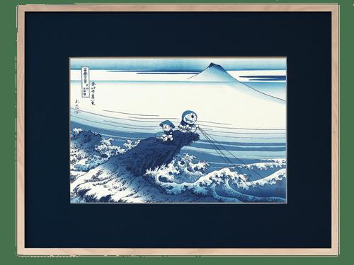「ドラえもん浮世絵 富嶽三十六景 甲州石班澤」