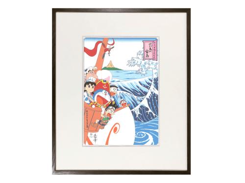 『映画ドラえもん のび太の宝島』公開記念 浮世絵木版画