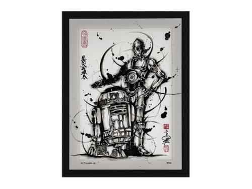 【武人画】 スター・ウォーズ原画 R2D2&C3PO