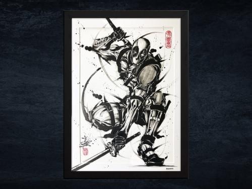 【武人画】マーベル原画「デッドプール」