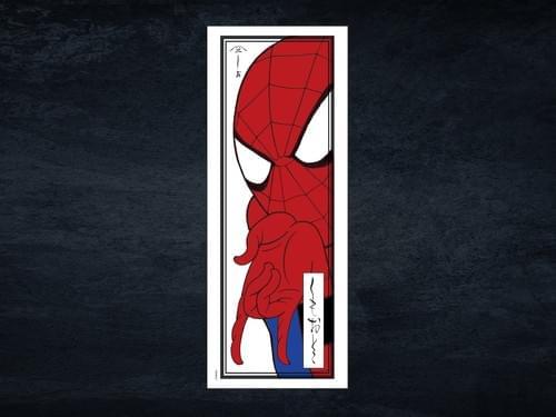 マーベル手拭い「スパイダーマン浮世絵」