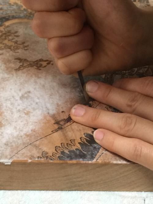 「百と卍」江戸浮世絵木版画
