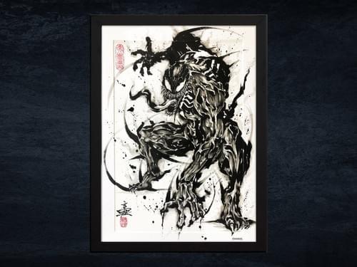 【武人画】マーベル原画「ヴェノム」