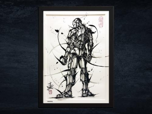 【武人画】マーベル原画「アイアンマン」B