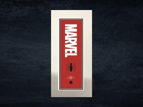 スパイダーマン浮世絵札「MARVELロゴ」シート