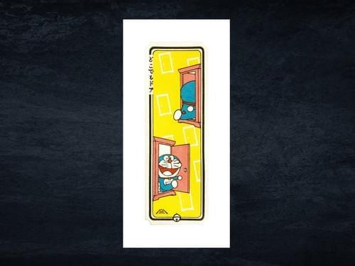 ドラえもん浮世絵札『どこでもドア』