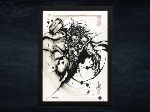 【武人画】マーベル原画「マイティ・ソー」