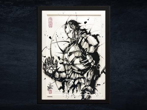 【武人画】マーベル原画「アイアンマン」A