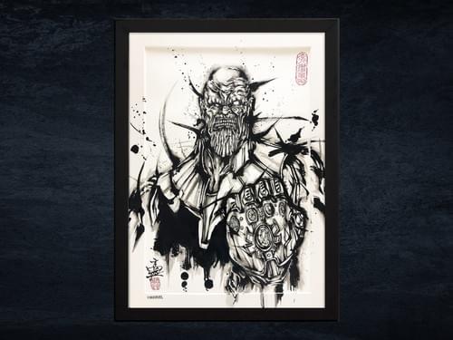【武人画】マーベル原画「サノス」