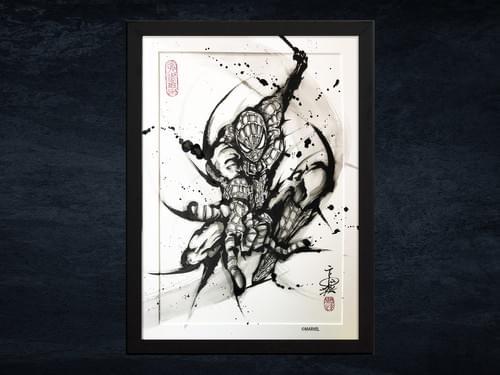 【武人画】マーベル原画「スパイダーマン」