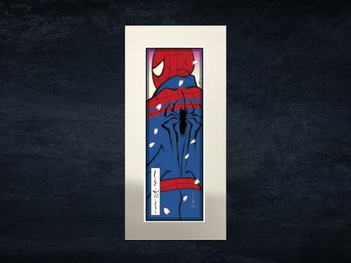 スパイダーマン浮世絵札 「蜘蛛男・桜吹雪」シート