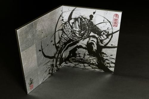 武人画ウルトラセブン本装屏風