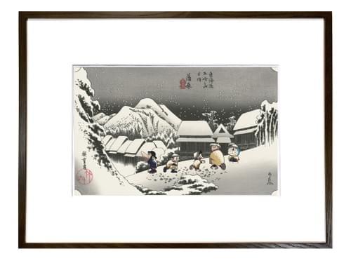 【在庫なし】「ドラえもん浮世絵 東海道五十三次の内 蒲原」
