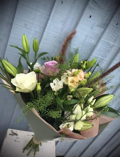 Rustic Blush Hand Tied Bouquet
