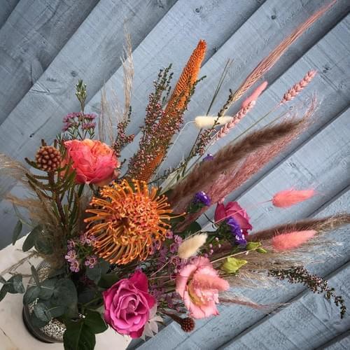 Dramatic Romantic Vase (fresh & dried mix)
