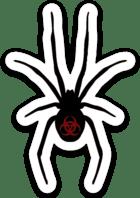 Small Red Tøxiic Spider Logo Stickers