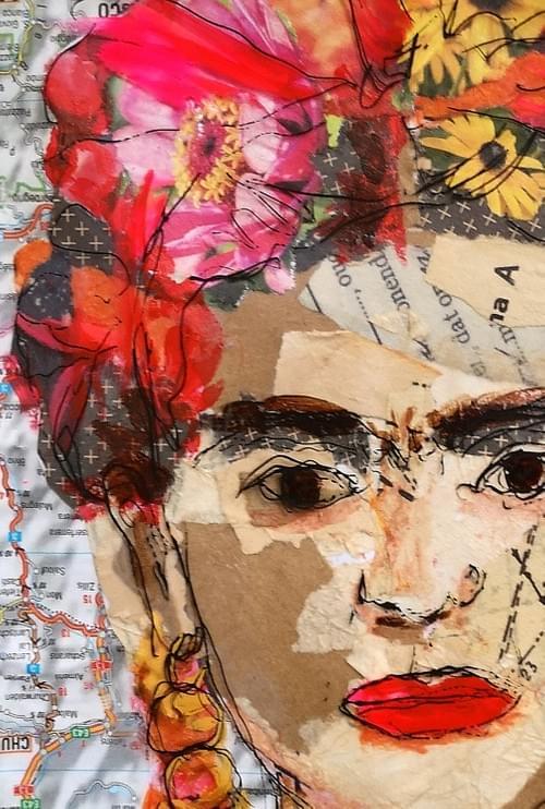 Frida collage | Zaterdag 9 oktober 2021 (Docent: Annemieke Vaartjes)