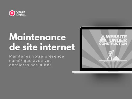 🛠 Maintenance de site Internet