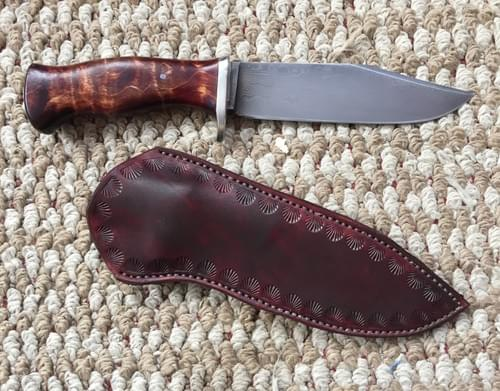 damascus compact camp knife