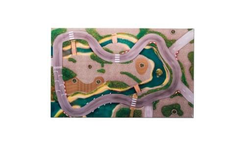 """Tapis de jeu """"Circuit urbain"""" 120 x 80 cm (03CU120)"""