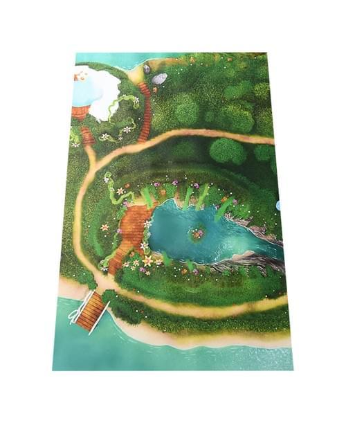 """Tapis de jeu """"Lagon Féérique"""" 90 x 60 cm (06LF90A)"""