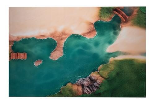"""Tapis de jeu """"Crique Mystérieuse"""" 180 x 120 cm (01CM180)"""