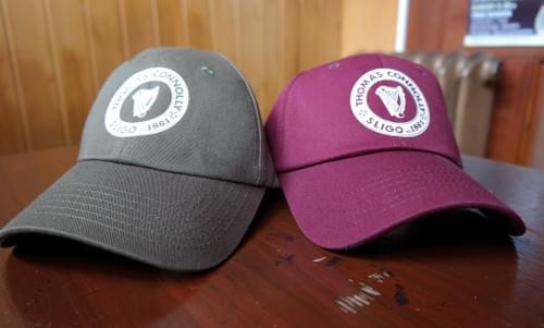Thomas Connolly branded baseball caps