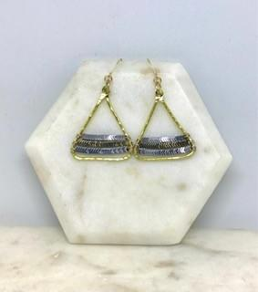 MIxed Hematite Chevron Show Stopper Earrings