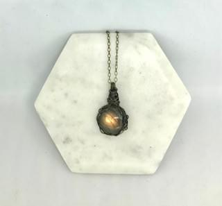 Magical Round Wrapped Labradorite Necklace