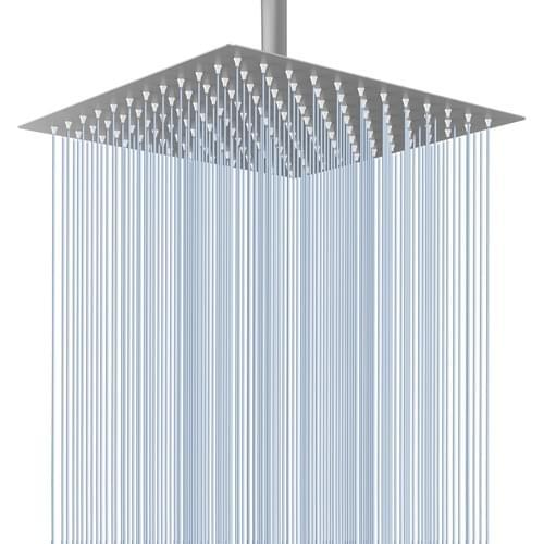 12'' Square Rain Shower Head (Brushed Nickel)