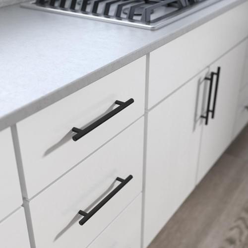 "6"" Cabinet Handles - 3.8"" Hole Center Brushed Nickel Cabinet Pulls"