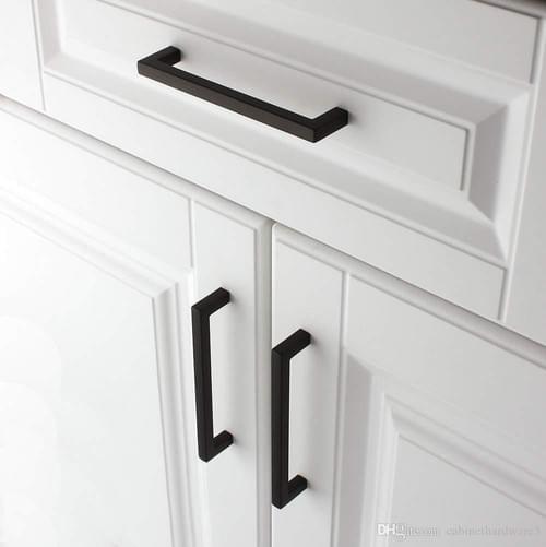 """3"""" Black Square Cabinet Pulls"""