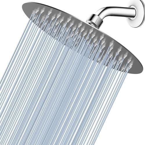 8'' Round High Pressure Shower Head (Brushed Nickel)