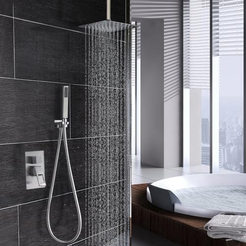 12'' Square Rain Shower Head (Chrome)