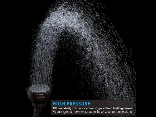 4'' High Pressure Shower Head with Shower Arm (Oil-Rubbed Bronze)