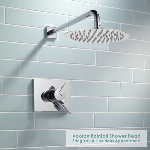 "8"" Round High Pressure Shower Head (Chrome)"