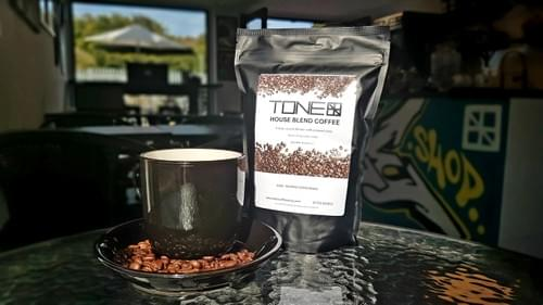 TONE - House Blend Coffee - 250g Dark Roast Beans Ground for Cafetiera