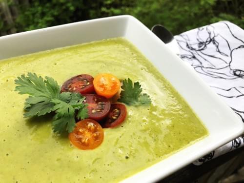 New! Green Tomato Gazpacho