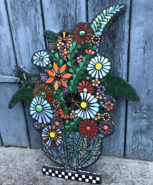 Dutch Orange Vase Wall Panel