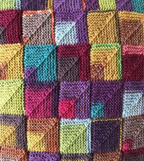14 inch Handknitted Mosaic Cushion (DKC14/03)