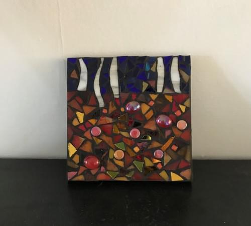 10 cm Birch Forest Mosaic Panel