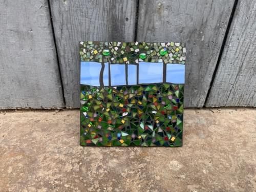15 cm The Light Beyond Mosaic Panel  Meadow