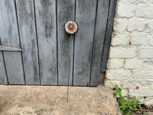 Orbital Flower Garden Stake (50 cms) Soft Peach