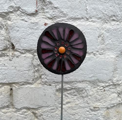 Orbital Garden Stake (50 cms) Soft Pink Purple