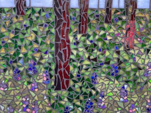 Bluebell Wood Mosaic Wall Panel 30 cm