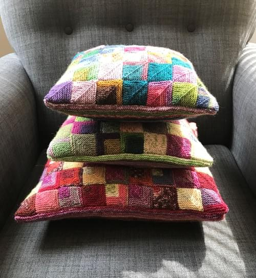 14 inch Handknitted Mosaic Cushion (DKC14/06)